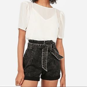 High waisted front tie short from Express